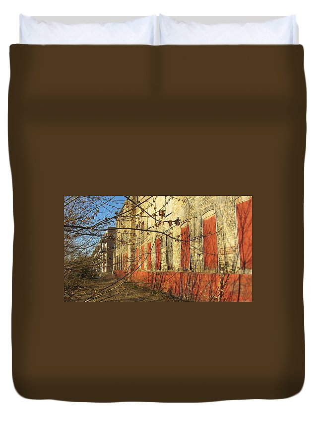 Urban Duvet Cover featuring the photograph Spring Buds And Urban Decay 3 by Anita Burgermeister