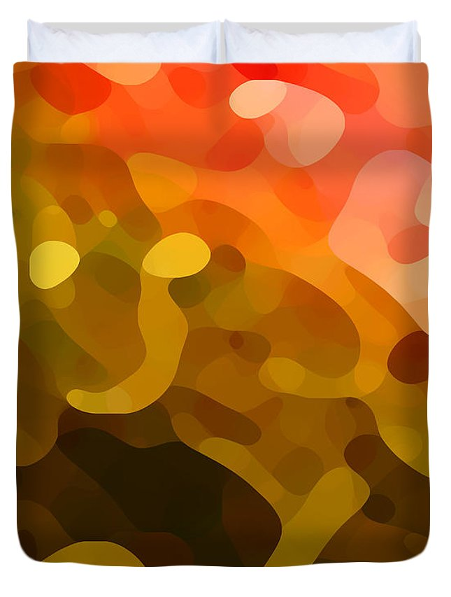 Abstract Duvet Cover featuring the painting Spring Day by Amy Vangsgard