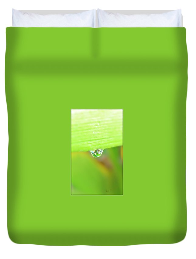 Spring Duvet Cover featuring the photograph Spring Dewdrop by Kume Bryant