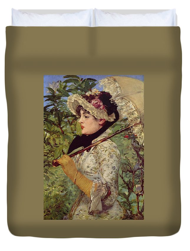 1881 Duvet Cover featuring the painting Spring by Edouard Manet