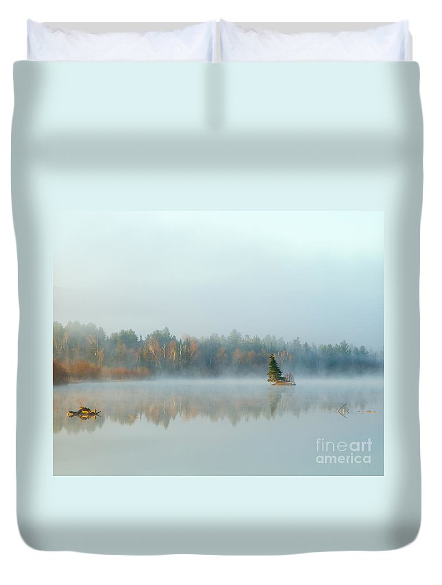 Water Duvet Cover featuring the photograph Spring Emulates Fall by Lloyd Alexander