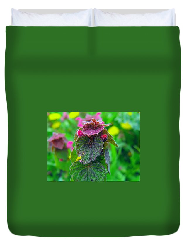 Flower Spring Duvet Cover featuring the painting Spring Fairytale by Georgi Dimitrov