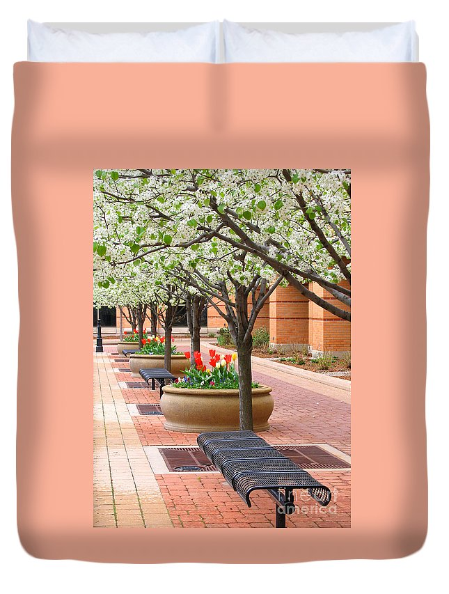 Spring Duvet Cover featuring the photograph Spring Fragrance by Ann Horn