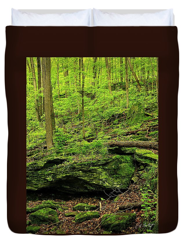 Canada Duvet Cover featuring the photograph Spring Green by Phill Doherty