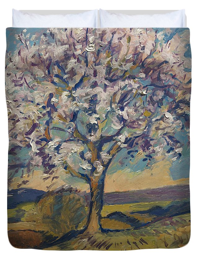 Spring Duvet Cover featuring the painting Spring In South Limburg by Nop Briex
