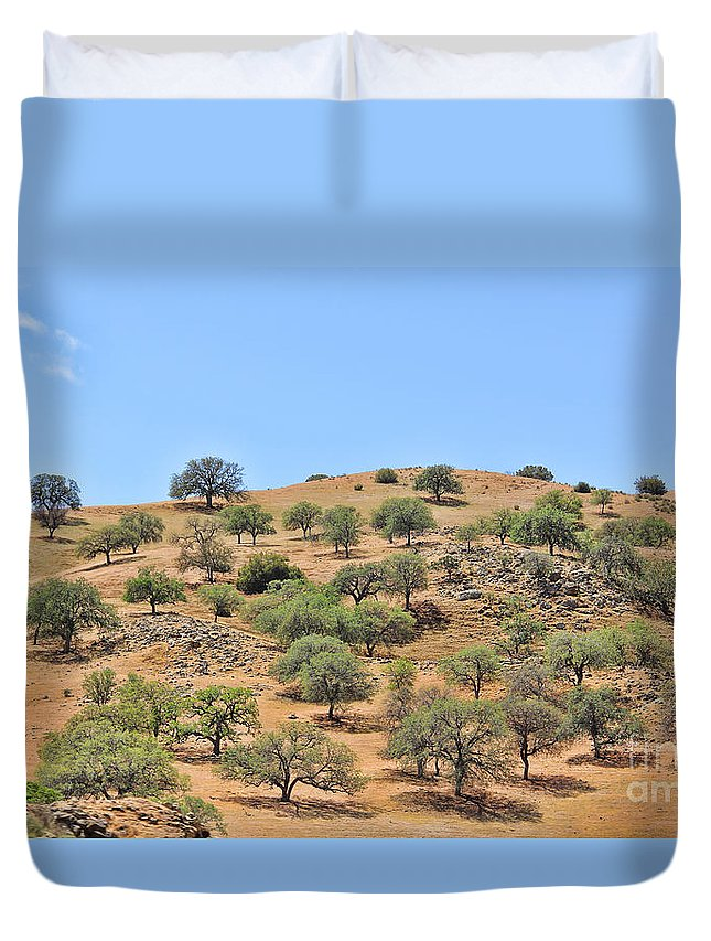 Spring Green Duvet Cover featuring the photograph Spring In The California Hills 6950 by Jack Schultz