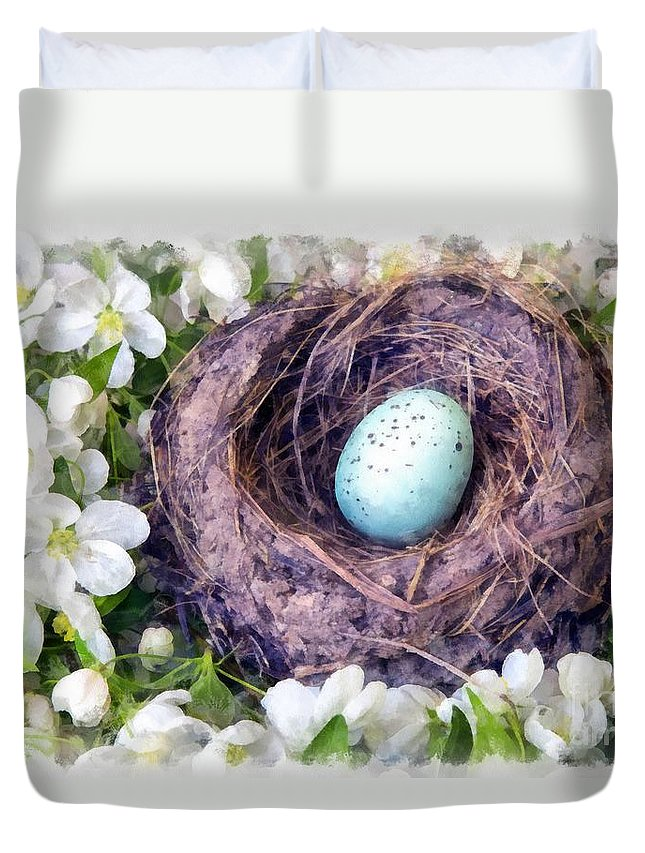 Spring Duvet Cover featuring the photograph Spring Is Finally Here by Edward Fielding