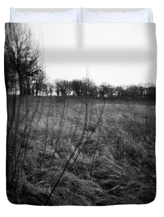 Holga Duvet Cover featuring the photograph Spring Is Near Holga Photography by Verana Stark