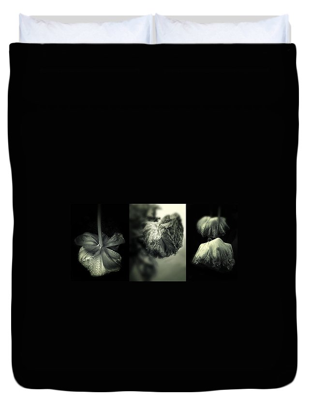 Flowers Duvet Cover featuring the photograph Spring Showers by Jessica Jenney