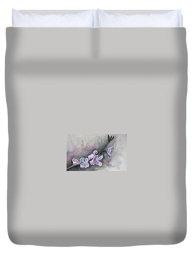 Rick Huotari Duvet Cover featuring the painting Spring Splendor by Rick Huotari