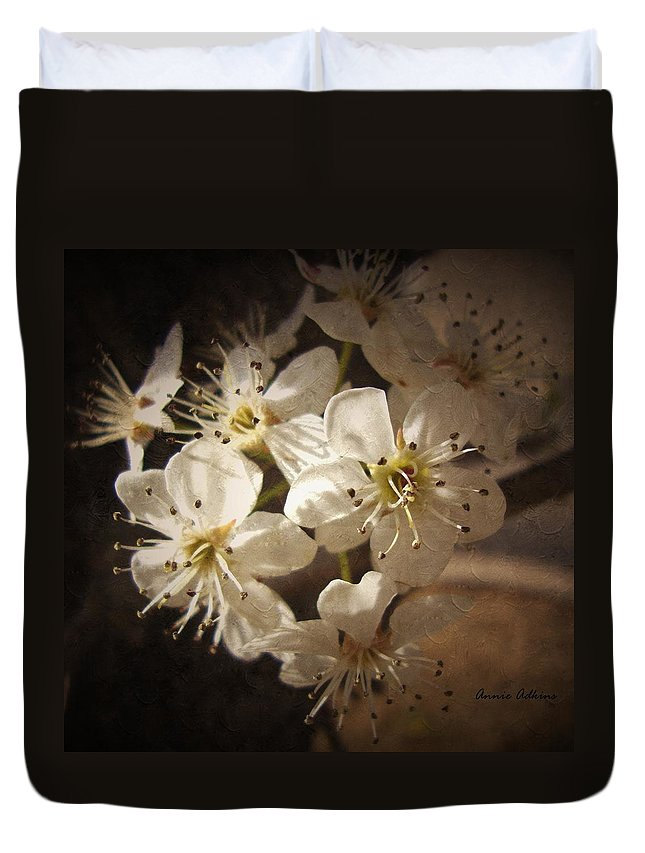 Springtime Duvet Cover featuring the photograph Springtime Blossoms by Annie Adkins