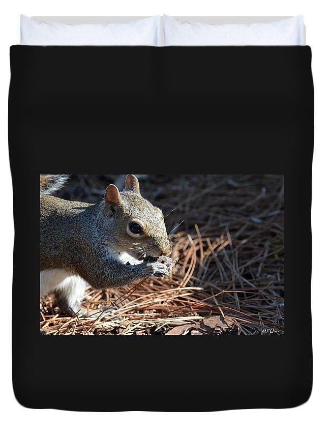 Springtime Nutcracker Duvet Cover featuring the photograph Springtime Nutcracker by Maria Urso