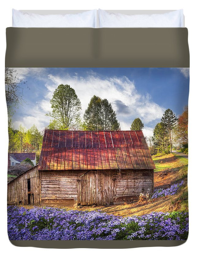 Appalachia Duvet Cover featuring the photograph Springtime On The Farm by Debra and Dave Vanderlaan