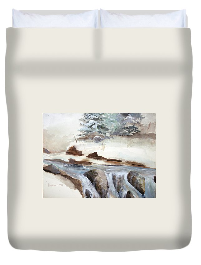 Rick Huotari Duvet Cover featuring the painting Springtime by Rick Huotari