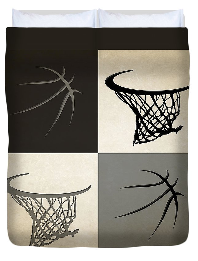Spurs Duvet Cover featuring the photograph Spurs Ball And Hoop by Joe Hamilton