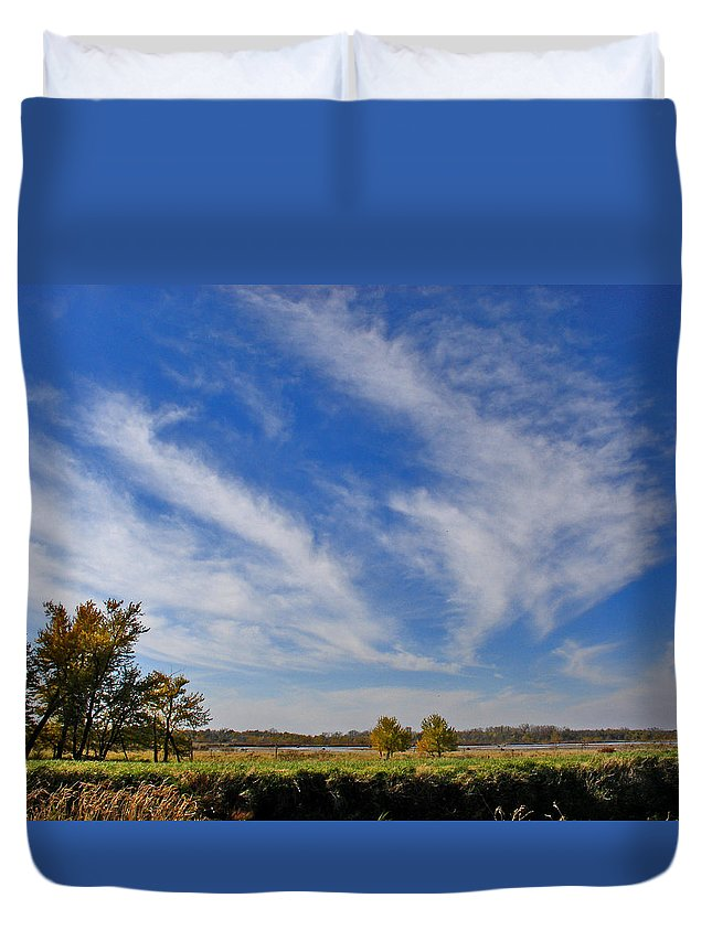 Landscape Duvet Cover featuring the photograph Squaw Creek Landscape by Steve Karol