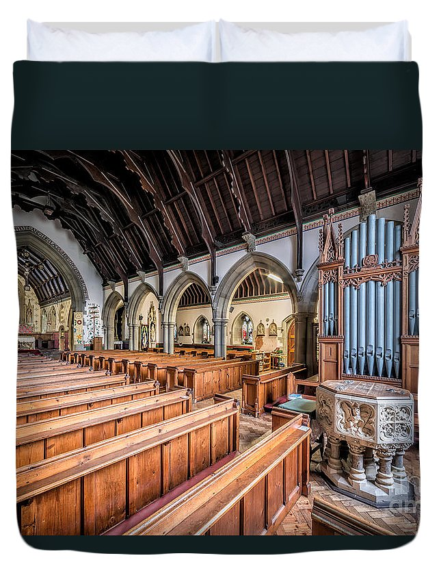 Chapel Duvet Cover featuring the photograph St David Church by Adrian Evans