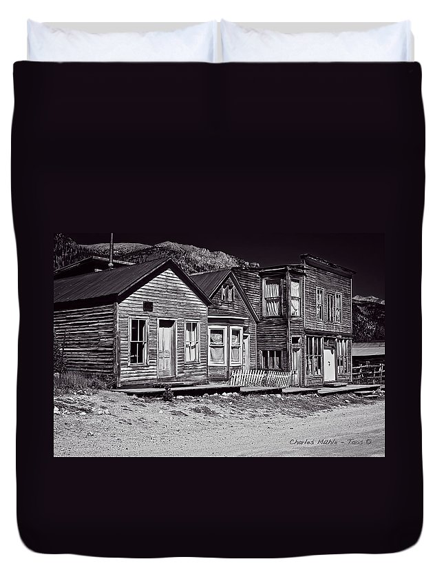 St Duvet Cover featuring the photograph St Elmo In Black And White by Charles Muhle