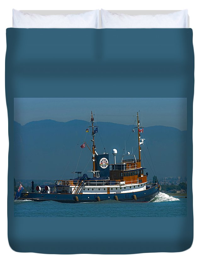 Tug Duvet Cover featuring the photograph St Eval by Rob Mclean