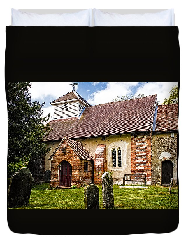 Aisle Duvet Cover featuring the photograph St James Ashmansworth by Mark Llewellyn