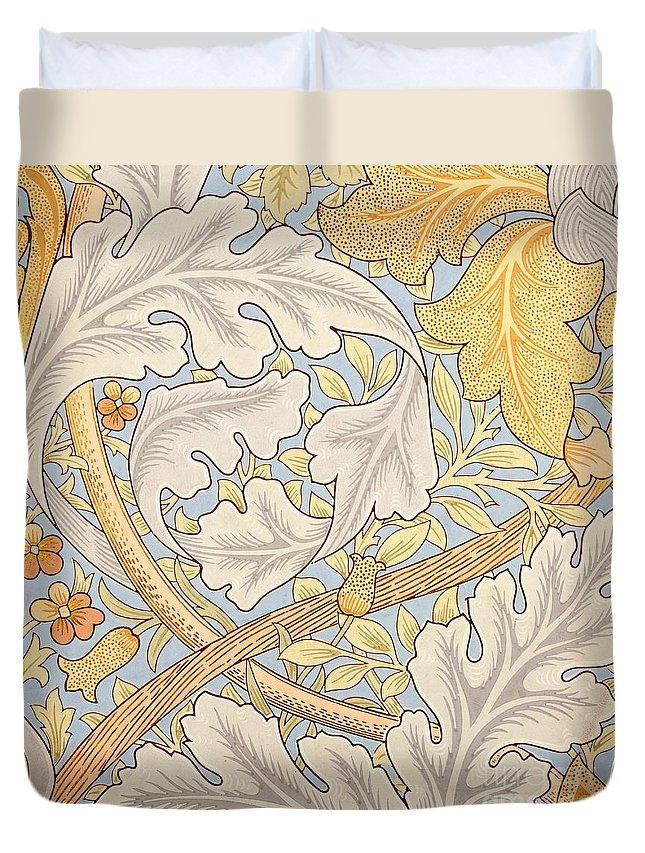 St James Duvet Cover featuring the painting St James Wallpaper Design by William Morris