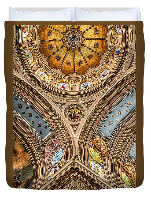 St. Mary Of The Angels Duvet Cover featuring the photograph St. Mary Of The Angels Splendor by Lindley Johnson