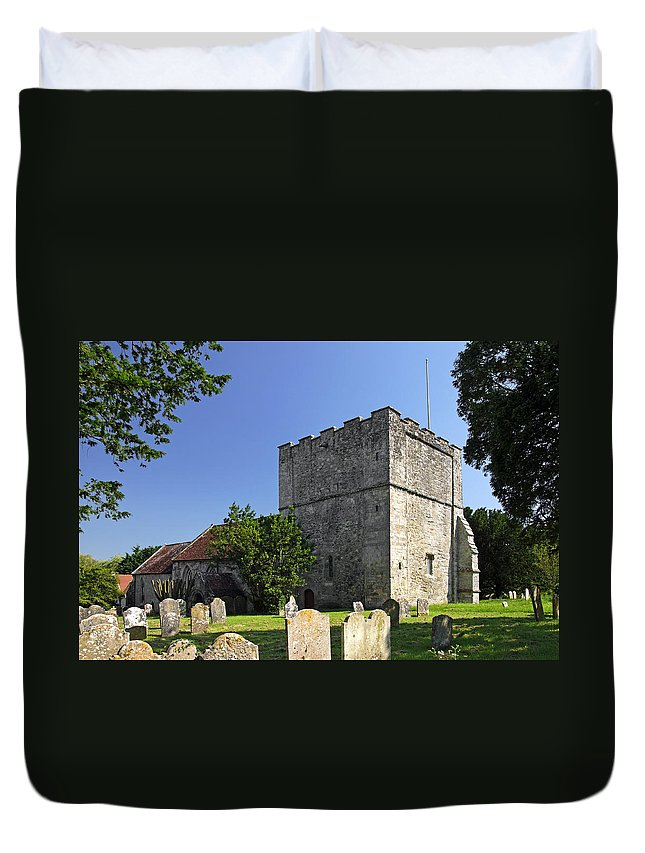 Britain Duvet Cover featuring the photograph St Michael's Church - Shalfleet by Rod Johnson
