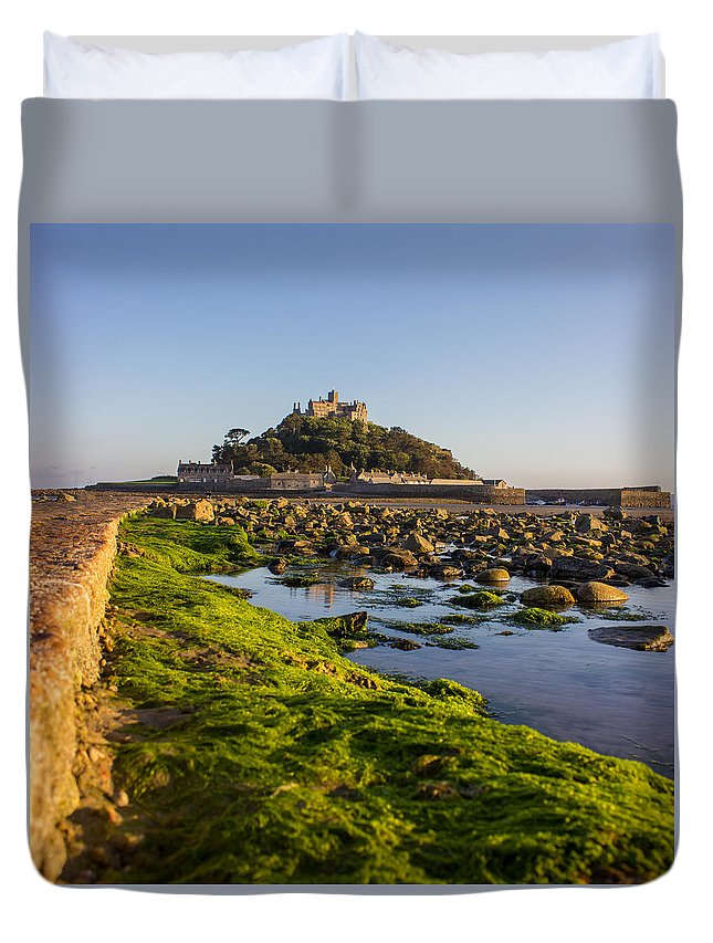 Stmichaelsmount Duvet Cover featuring the photograph St Michael's Mount by Martin Newman