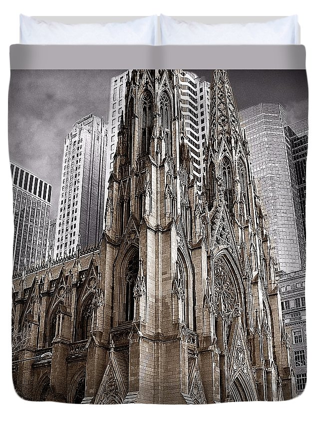 Cathedral Duvet Cover featuring the photograph St. Patricks Cathedral by David Dehner
