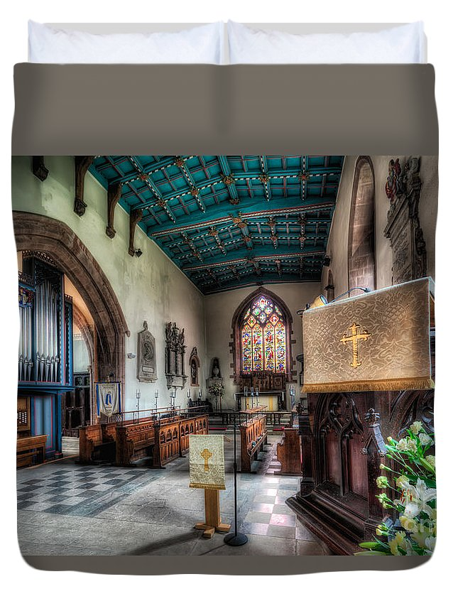 Arch Duvet Cover featuring the photograph St Peter's Church by Adrian Evans