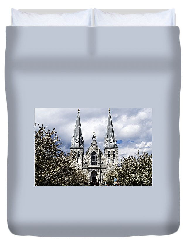 Church Duvet Cover featuring the photograph St. Thomas Of Villanova 2 by Judy Wolinsky