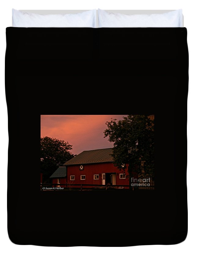 Barn Duvet Cover featuring the photograph Stable Barn by Susan Herber