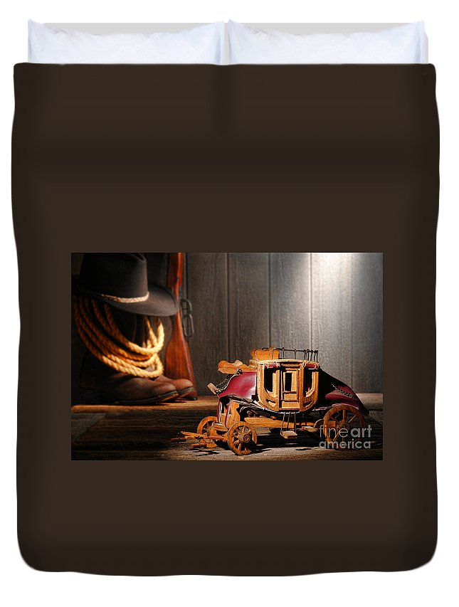 Stagecoach Duvet Cover featuring the photograph Stagecoach Dream by Olivier Le Queinec