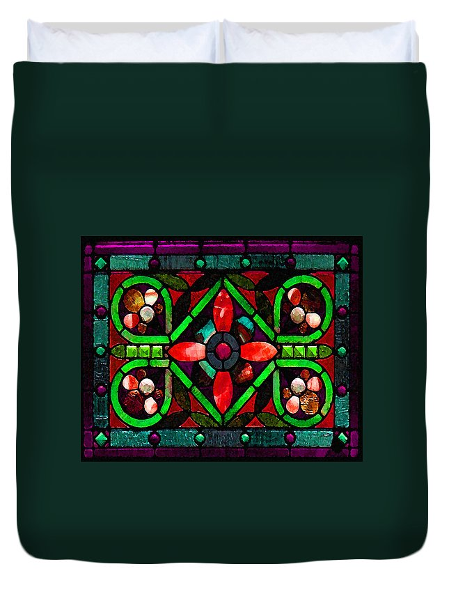 Stained Glass Duvet Cover featuring the photograph Stained Glass 2 by Timothy Bulone