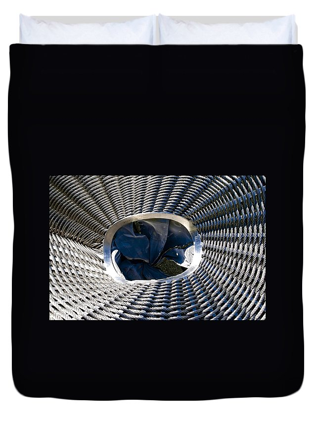 Stainless Steel Duvet Cover featuring the photograph Stainless Rope by Charlie Brock