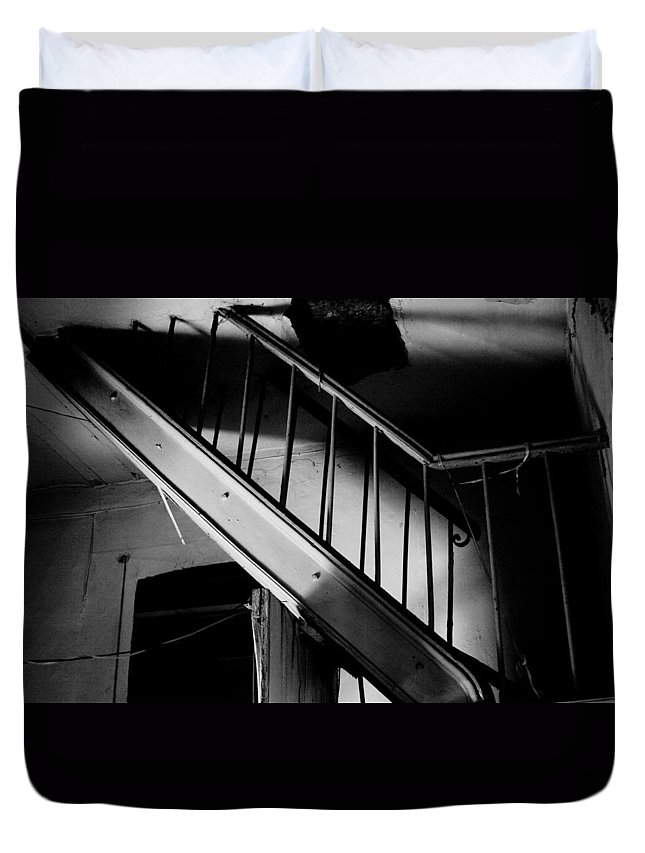 Home Duvet Cover featuring the photograph Strange Stairs by Ivanna Laka