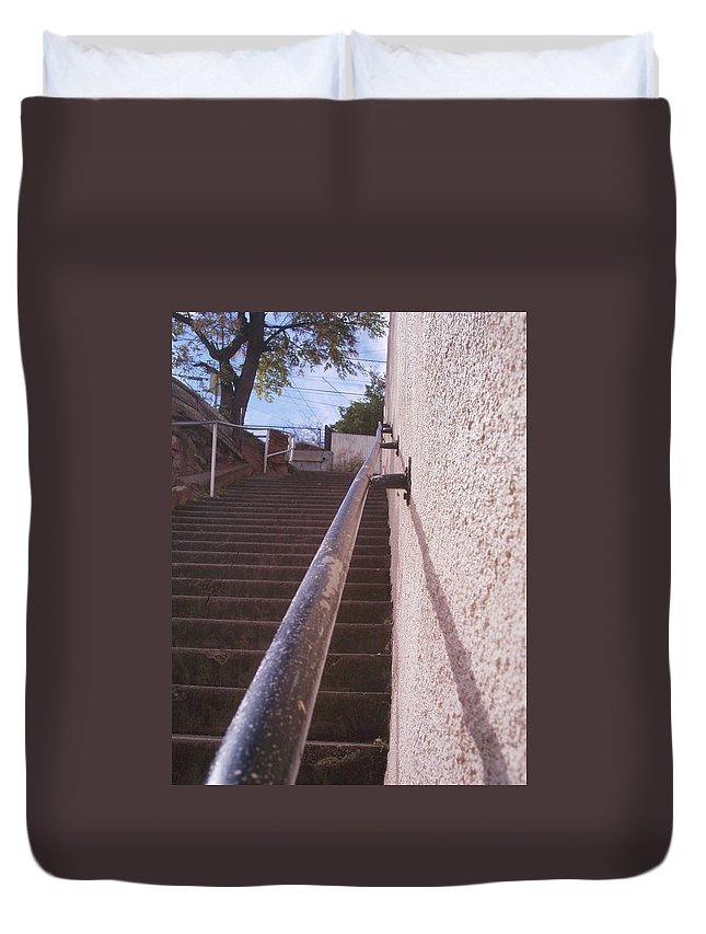 Bisbee Duvet Cover featuring the photograph Stairs by David S Reynolds