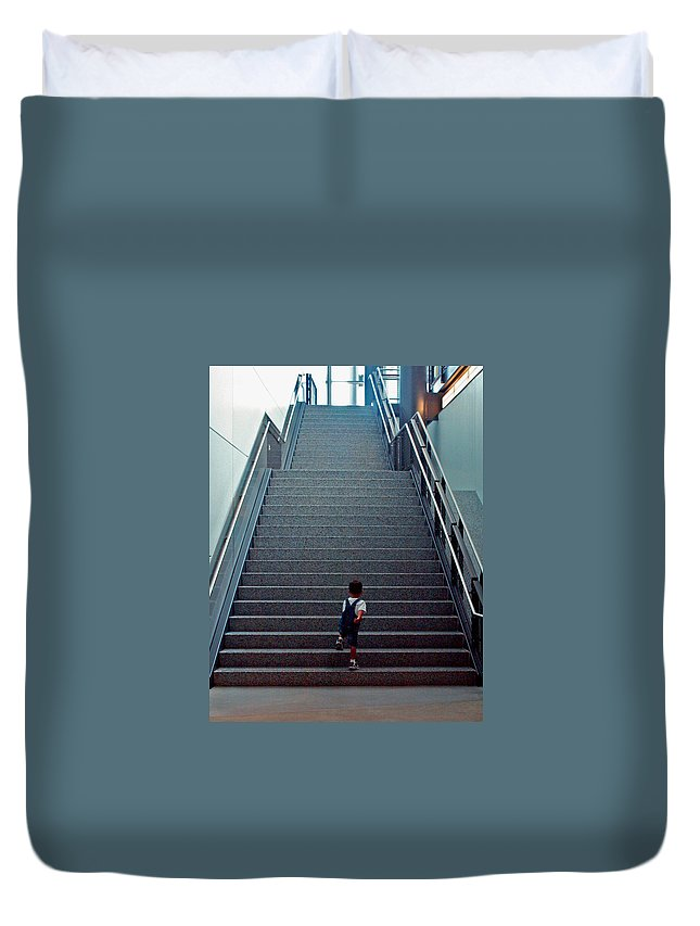 Washington D.c. Duvet Cover featuring the photograph Stairway To... by Pablo Rosales