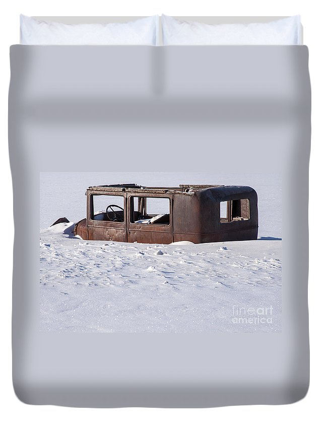 Jackson Hole Duvet Cover featuring the photograph Stalled by Bob Phillips