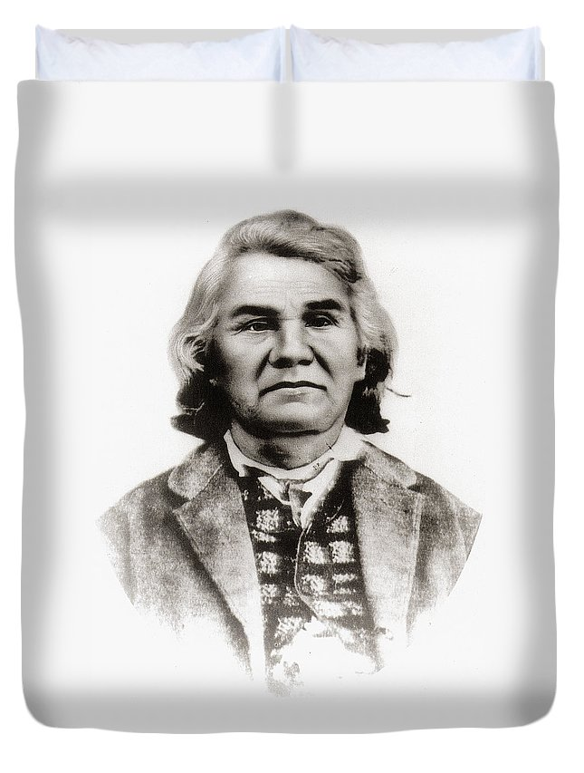 19th Century Duvet Cover featuring the photograph Stand Watie (1806-1871) by Granger