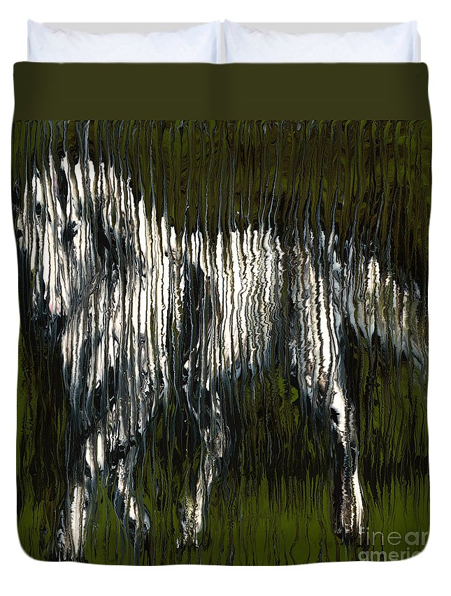 Horse Duvet Cover featuring the painting Standing Horse Profile by Scott Lindner