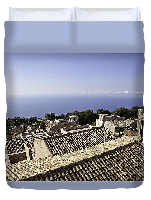 Dubrovnik Duvet Cover featuring the photograph Standing On Top Of The World by Madeline Ellis