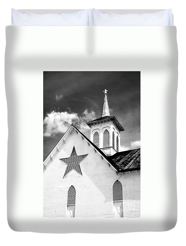 Infrared Duvet Cover featuring the photograph Star Barn Infrared by Paul W Faust - Impressions of Light