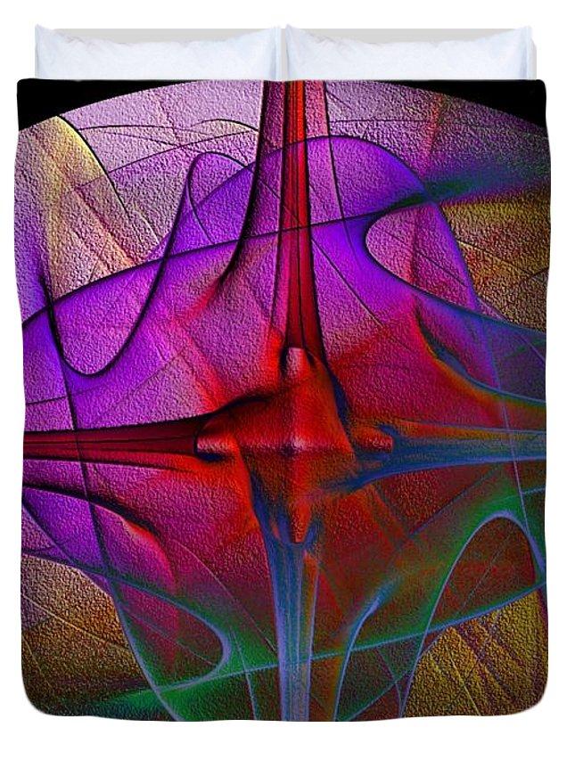 Star Duvet Cover featuring the digital art Star Fire by Robert Burns