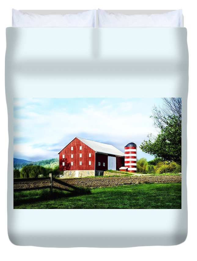 Star Duvet Cover featuring the photograph Star Spangled Farm by Bill Cannon