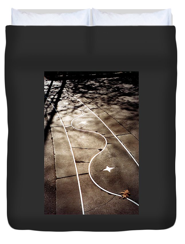 Seattle Center Walkway Duvet Cover featuring the photograph Star Walk by Loren McNamara