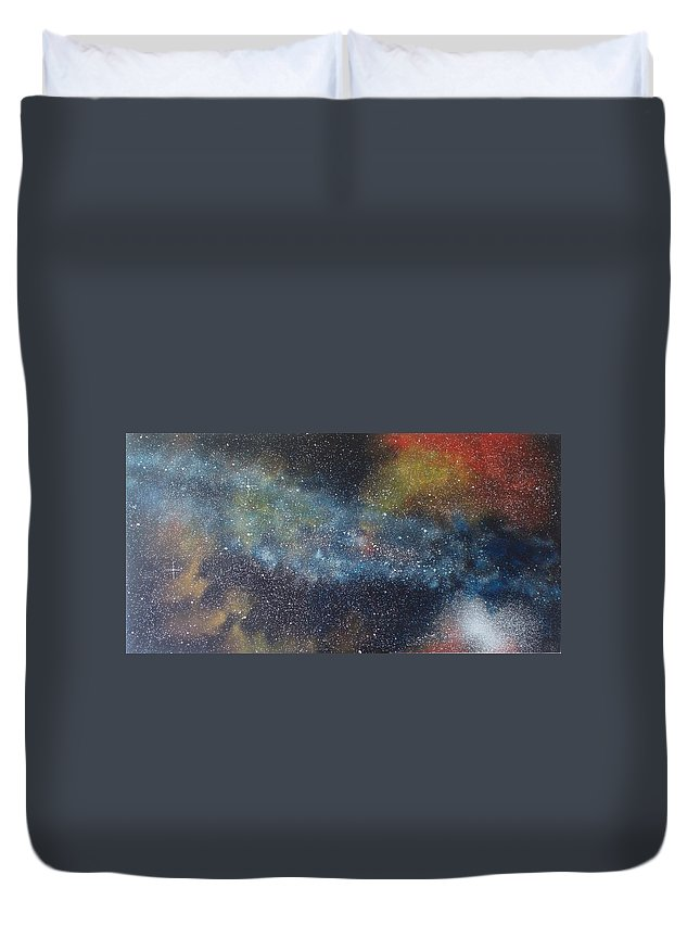 Oil Painting On Canvas Duvet Cover featuring the painting Stargasm by Sean Connolly
