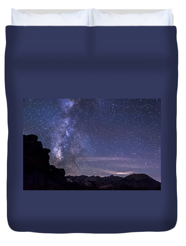 Night Duvet Cover featuring the photograph Starry Night by Cat Connor