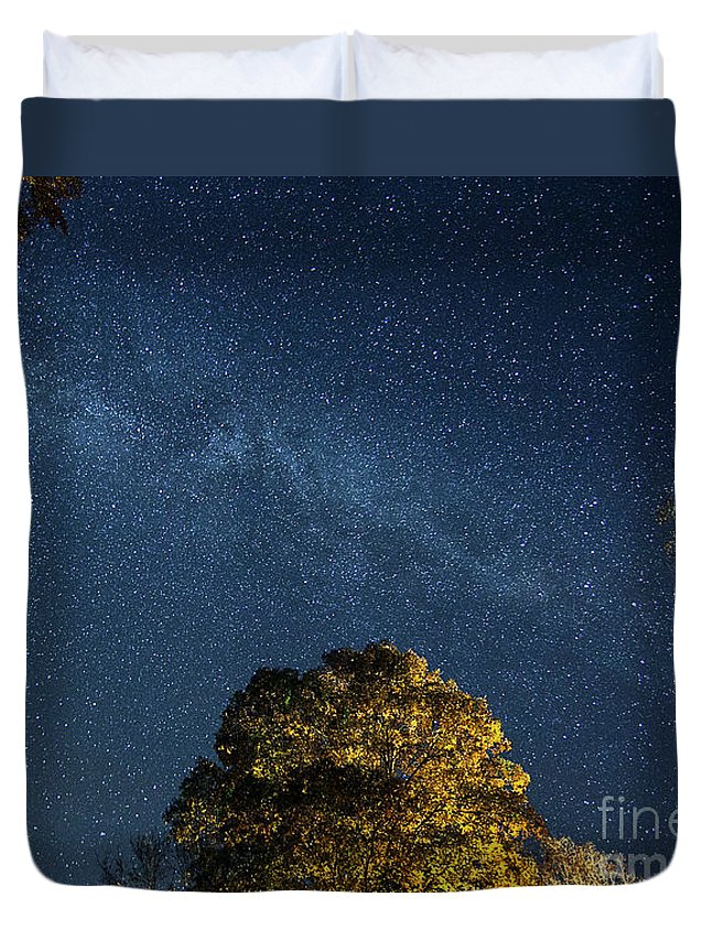 Stars Duvet Cover featuring the photograph Starry Skies by Martin Konopacki
