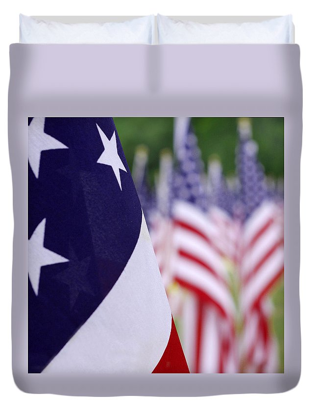 Stars And Stripes Duvet Cover featuring the photograph Stars And Stripes by Mike McGlothlen